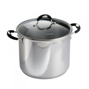 Tramontina 12 Qt. 18/10 Stainless Steel Stockpot With Heat & Shatter-Resistant Glass Lid And Soft-Grip Handles (Stock Pot For Induction Cooktop compare prices)