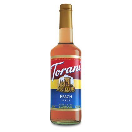 Torani Peach Syrup (1 Single 750 Ml Bottle)