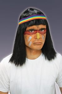 Native American Brave Wig Adult Halloween Costume Accessory