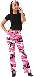 Womens Stretch Flare Pants by Rothco in Pink Camo - Size 11/12