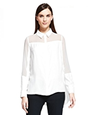Autograph Sheer Panelled Shirt