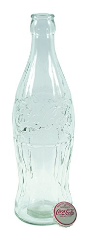 Coca-Cola 20'' Glass Contour Bottle Bank With Metal Cap - 1