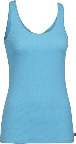 Under Armour, Canotta fitness Donna Double Threat, Blu (Island Blue), M