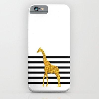 society6(ソサエティシックス) iPhone6(4.7インチ)ケース金色のキリン Gold Giraffe並行輸入品
