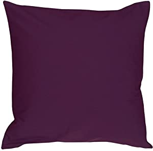 Pillow Decor - Caravan Cotton Purple 20x20 Throw Pillow