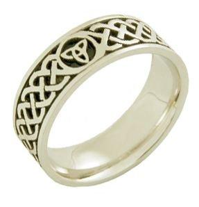 950 Platinum 7Mm Celtic Trinity Knot Wedding Band C4014 - Size 7.5