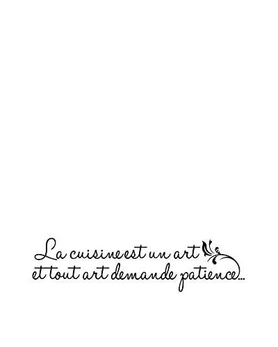 Ambiance-sticker Vinile Decorativo Kitchen French Quote La Cuisine Est Un Art