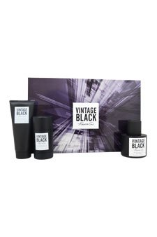 Kenneth Cole Vintage Black 3 Piece Gift Set for Men (Eau de Toilette Spray Plus After Shave Balm Plus Deodorant Stick)