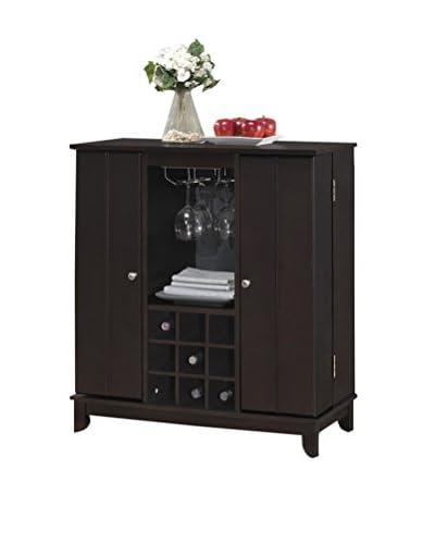 Baxton Studio Derremer Contemporary Bar Cabinet, Dark Brown