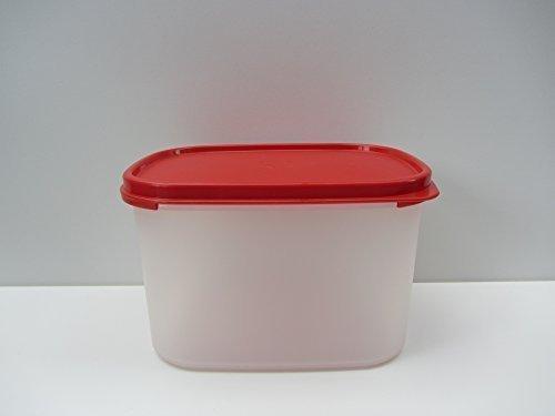 Tupperware Kompaktus 1900 ml Behälter transparent rot Sommer Eid Genosse Eidgenosse