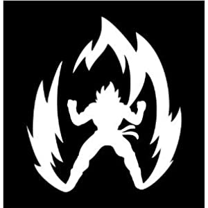 "Amazon.com: (2x) 10"" Dragon Ball Z Super Saiyan Goku Anime Sticker"