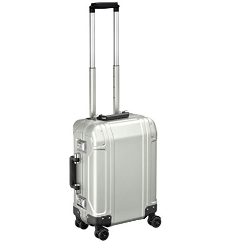 Zero Halliburton Geo Aluminum 2.0 Carry On 4-Wheel Spinner Silver