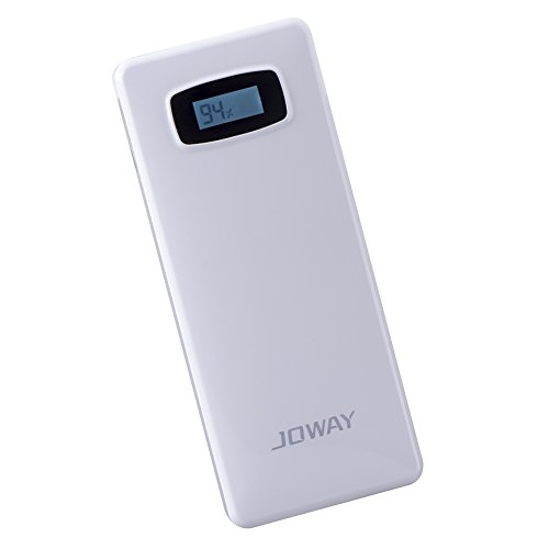 Joway Jp20 20000Mah +Jc05 2A Wall Charger Triple Port 5V/9V Multi-Voltage Port Liquid-Crystal Display Ultra-High Capacity Power Bank External Battery Portable Battery Fast Charging - For Iphone 6, 5S, 5C, 5, 4S, Ipad Air, Mini, Galaxy S5, S4, S3, Note 3,