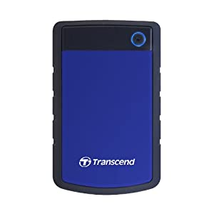 Transcend USB3.0 ポータブルHDD StoreJet2.5 2TB 3年保証 TS2TSJ25H3B(ブルー)