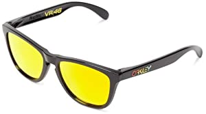 Oakley Valentino Rossi Frogskins Sunglasses Polished Black/Fire Iridium Size:M