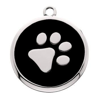 Smart Tag Find Lost Pets Fast.(Large Paw Print Id Tag For Dogs & Cats)