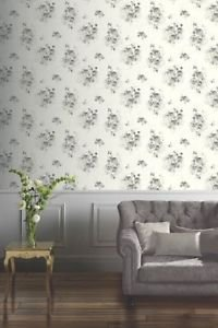 Arthouse Isadora Wallpaper - Black/White by New A-Brend