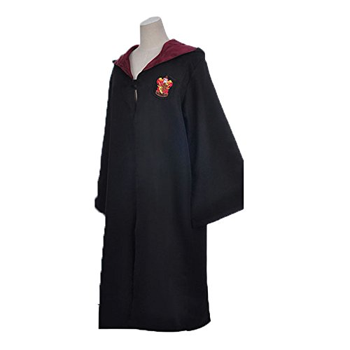 [QuietClouds Child's Halloween Cosplay Costume Harry Potter Deluxe Robe for Kids,mofapao02-green-S] (Hogwarts Robes Gryffindor)