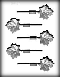 Maple Leaves Pop Hard Candy Mold
