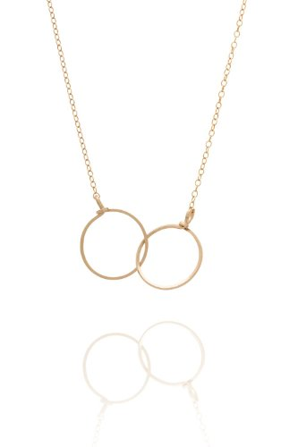 By Boe - Halskette mit zwei Ringen vergoldet