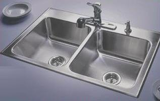 Inspirational Just Ledge Type Double Bowl Stylist Topmount Stainless Steel Sink DL A