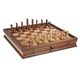 19 Inch Camphor Chess Set with Storage (Oversized)