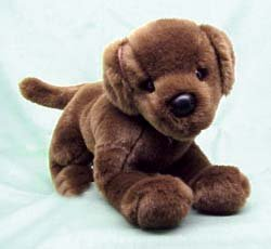 Plush Animal: Chocolate Lab