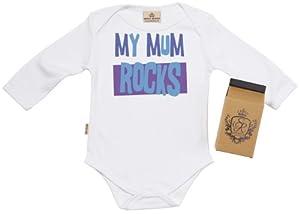 SR - My Mum ROCKS Camisillas Bebé - 100% Bio-algodón - en caja de regalo marca Spoilt Rotten