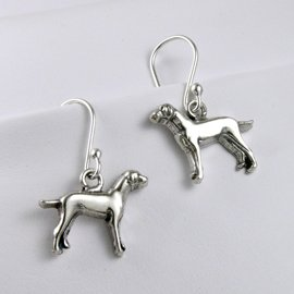 Weimaraner Sterling Silver Earrings
