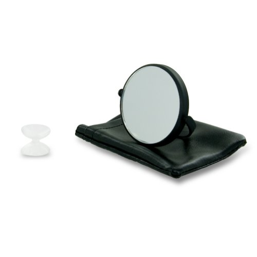 First Impressions Makeup Mirror with Suction and Travel Pouch