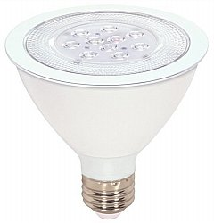 Satco S9086 11 Watt (75 Watt) 750 Lumens Par30 Short Neck Led Warm White 3000K 40 Beam Ditto Light Bulb, Dimmable