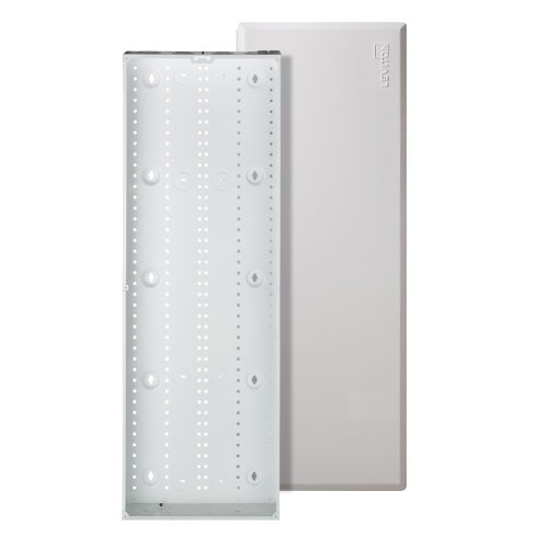 Leviton 47605-42W SMC Structured Media Enclosure with Cover, 42-Inch, White (Media Panel With Cover compare prices)