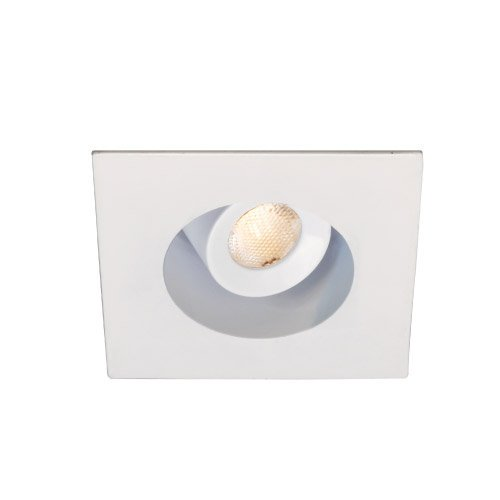 Wac Lighting Hr-Led272R-C-Wt Ledme Mini 2-Inch Recessed Downlight - 20-Degree Adjustable From Vertical - Square Trim - 4500K