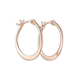 461e05c95f9c7 Price Anything TASHI Small Flat Hoop Earrings in Rose Gold Jewelry ...