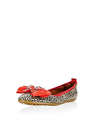 Rollbab Bailarinas (Leopardo / Rojo)