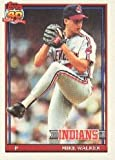 1991 Topps #593A Mike Walker ERR/('90 Canton-Akron/stat line omit