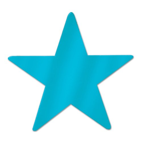 Beistle 12-Pack Metallic Star Cutouts, 3-3/4-Inch - 1