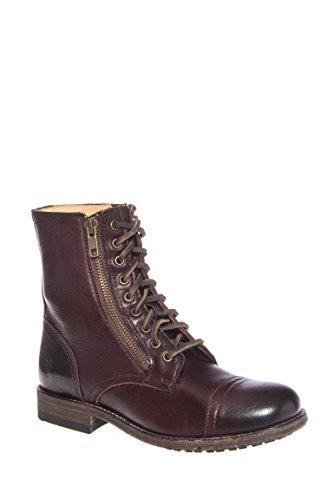 Tyler Double Zip Low Heel Boot