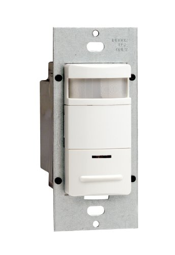 Decora Passive Infrared Wall Switch Occupancy Sensor, 180 Degree, 2100 sq. ft. Coverage, Various Colors Available, ODS10-ID