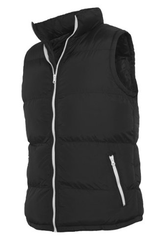 Urban Classics TB299 Contrast Bubble Vest Piumino Smanicato Uomo Regular Fit Black White