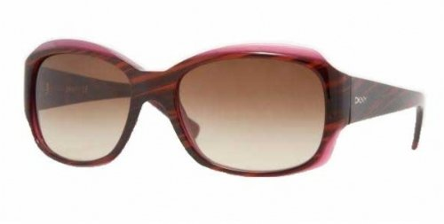 DKNY DKNY 4048 342413 Brown Striped Violet 4048 Square Sunglasses Lens Category 3