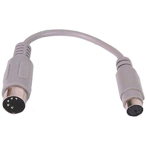 AT 5 Pin Din Male to PS/2 6 Pin Mini Din Female Keyboard Adaptor Cable - 15cm