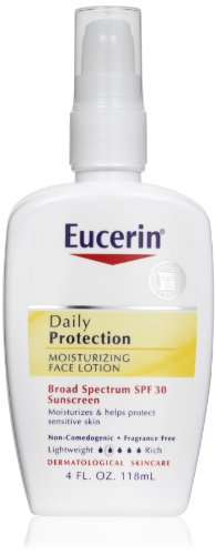 Eucerin Daily Protection Moisturizing Face Lotion, SPF 30, 4-Ounce Bottles (Pack of 2)