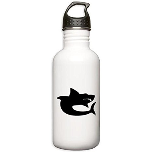CafePress - Shark Silhouette Water Bottle - Stainless Steel Water Bottle, 1.0L Sports Bottle (Shark Silhouette compare prices)