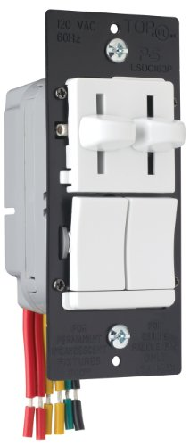 Pass&Seymour LSDC163PWV Dual Control Slide Preset Single Pole Dimmer, White