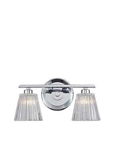 Artistic Lighting 2-Light Bath Bar, Polished Chrome