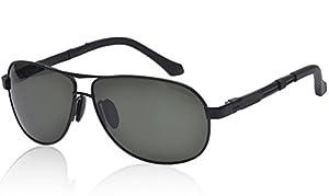 ATTOL Klassische Pilotenbrille Fliegerbrille Spiegelbrille Herren Sonnenbrille Brille silber verspiegelt