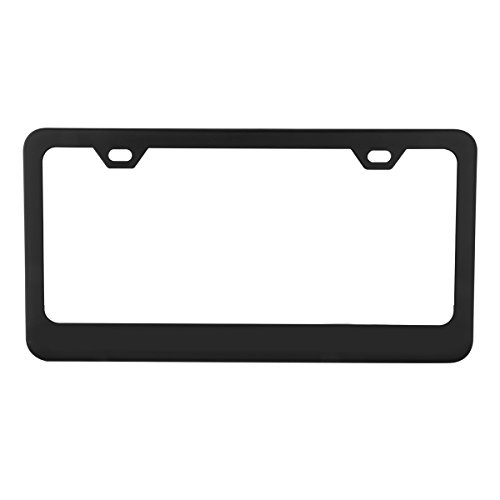 grand-general-60439-matte-black-powder-coated-license-plate-frame-with-2-holes