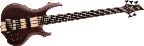 ESP LTD F-5E 5-String Bass Guitar Natural Satin