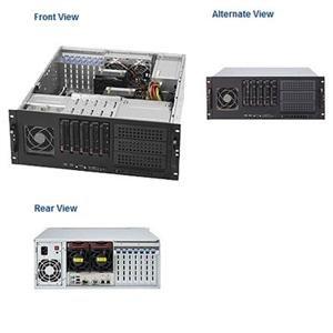Supermicro 665 Watt 4U Tower/Rackmount Server Chassis, Black (CSE-842TQ-665B)